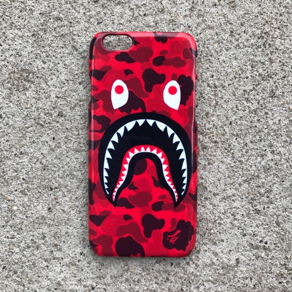 best sneakers 03a0a e1f18 Brand New Red Bape Shark Phone Case iPhone/Samsung NWT